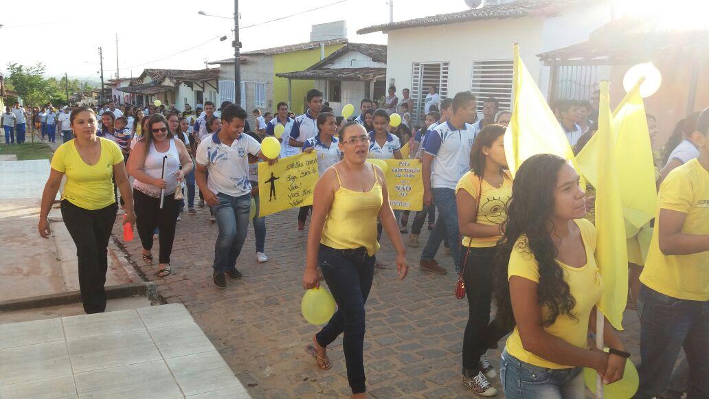 Caminhada pela valorização da vida realizado dia 29 de setembro Santa Fé – Jundiá RN