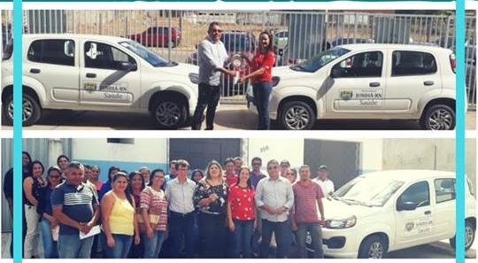 Prefeito José Arnor, realiza a entrega de dois automóveis para beneficiar a saúde da população Jundiaense.