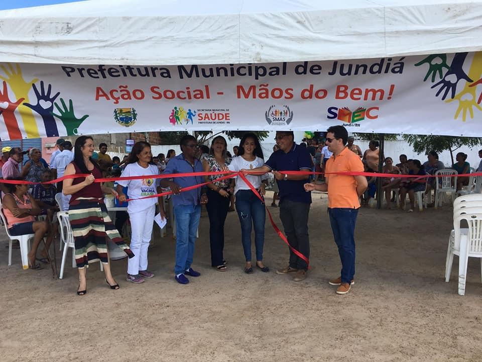 Secretaria Municipal de Saúde faz abertura da Ação Social Mãos do Bem.