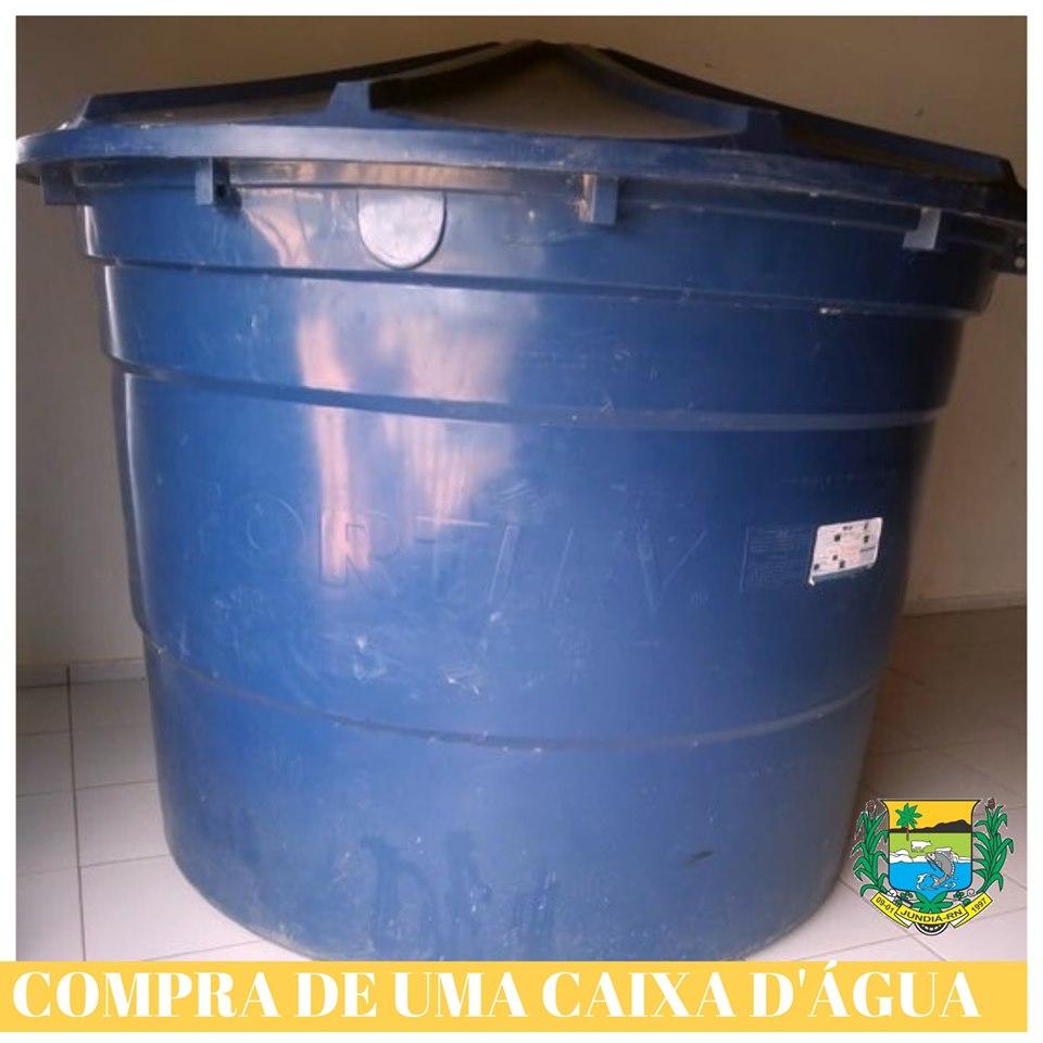 Prefeitura de Jundiá compra caixa d'água para a Escola João Batista da Cruz.