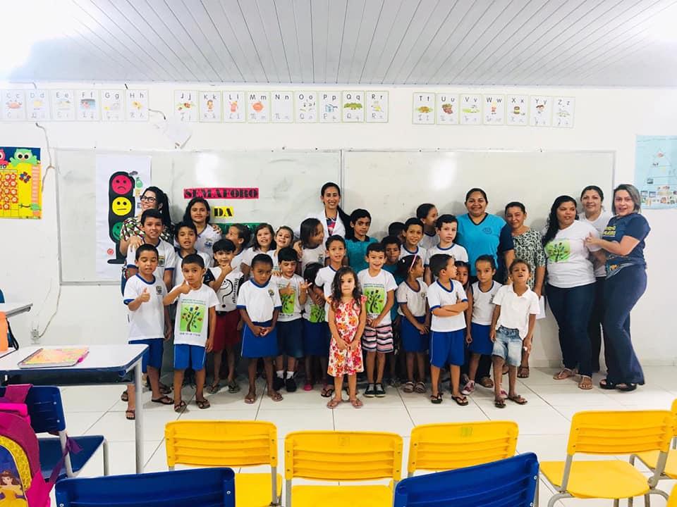 O Programa Saúde na Escola – PSE realiza mais uma ação.