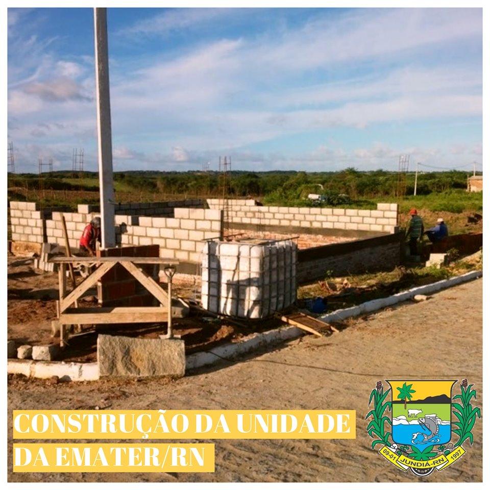 Prefeitura em convênio com o Estado está construindo no município uma unidade local da EMATER-RN.