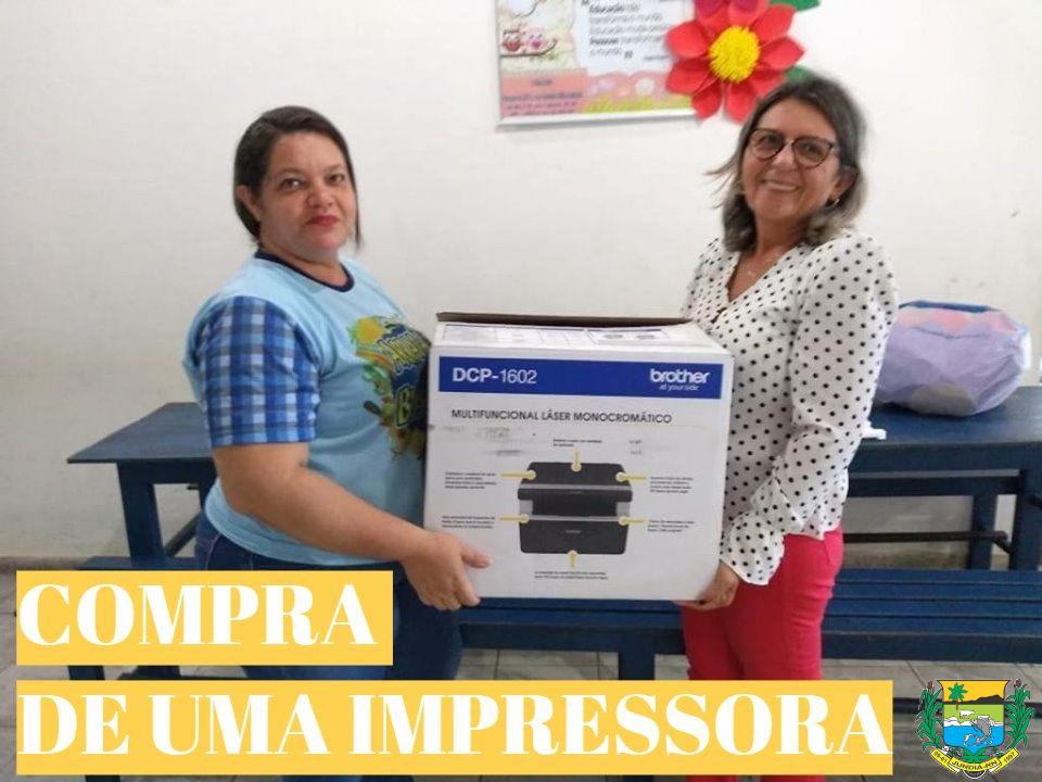 Escola Paulino Francisco de Souza é contemplada com impressora.