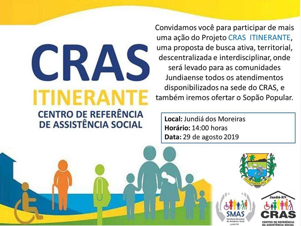 Projeto CRAS ITINERANTE  na Comunidade de Jundiá dos Moreiras.