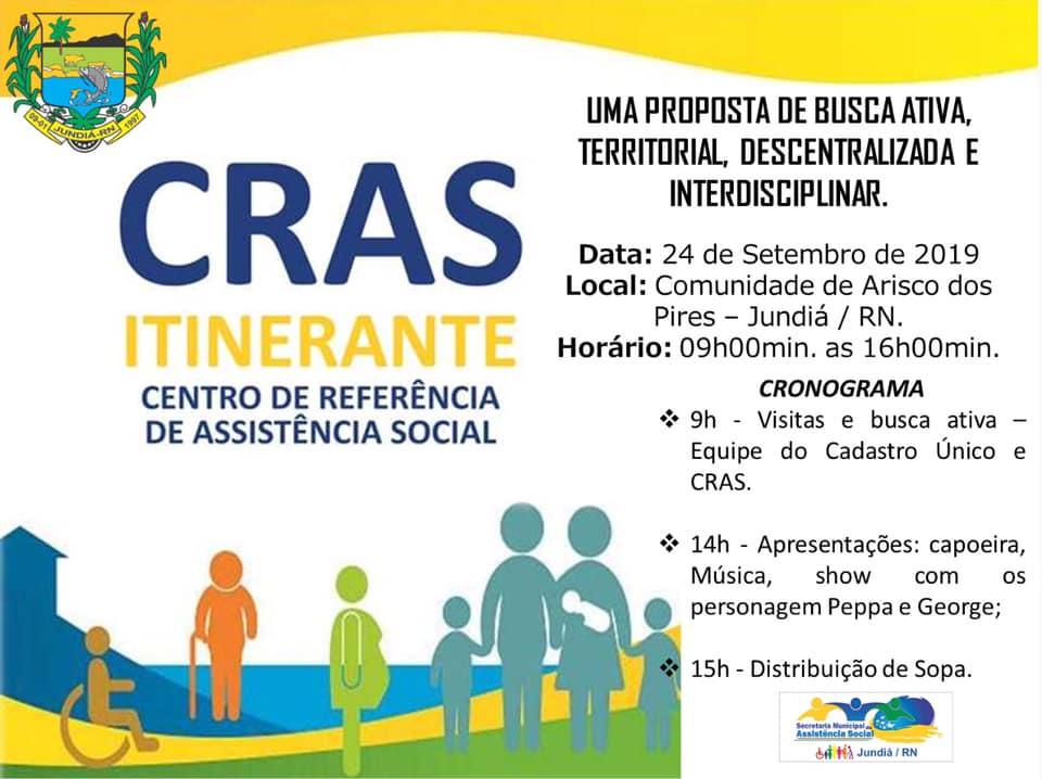 """""""CRAS ITINERANTE"""" na comunidade de Arisco dos Pires."""