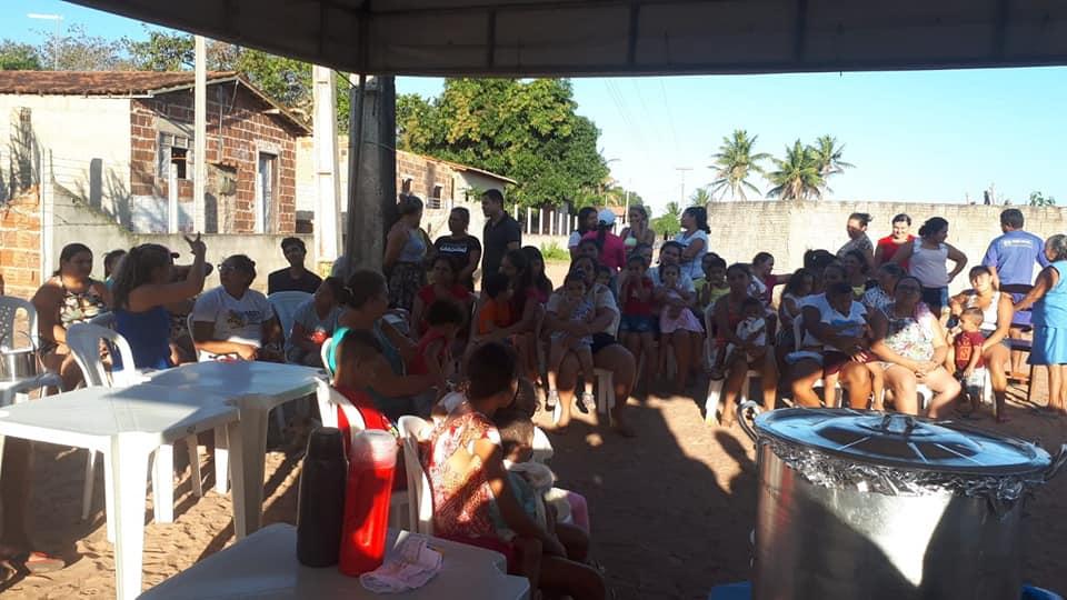 Projeto CRAS ITINERANTE, na comunidade de Jundiá dos Moreiras.