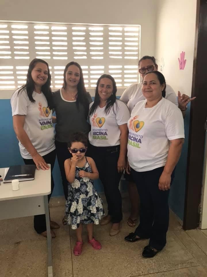 Prefeitura de Jundiá na Campanha de vacinação CONTRA SARAMPO.