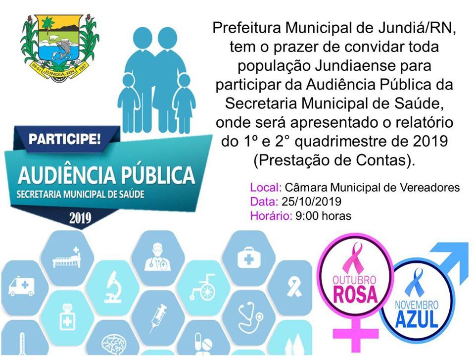 AUDIÊNCIA PÚBLICA-Convite: