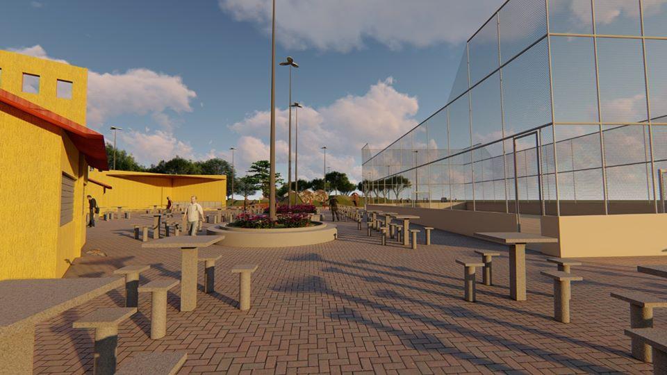 Projeto do Complexo de Lazer e Turismo da cidade.