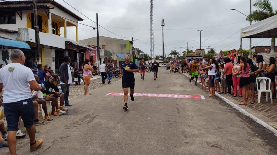 Corrida de pedestres realizada no aniversário de Jundiá.