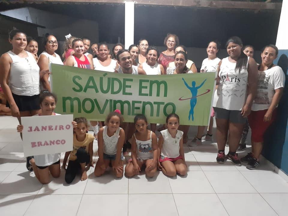 JANEIRO BRANCO com o Grupo Saúde em Movimento na comunidade de Lajedo Grande.