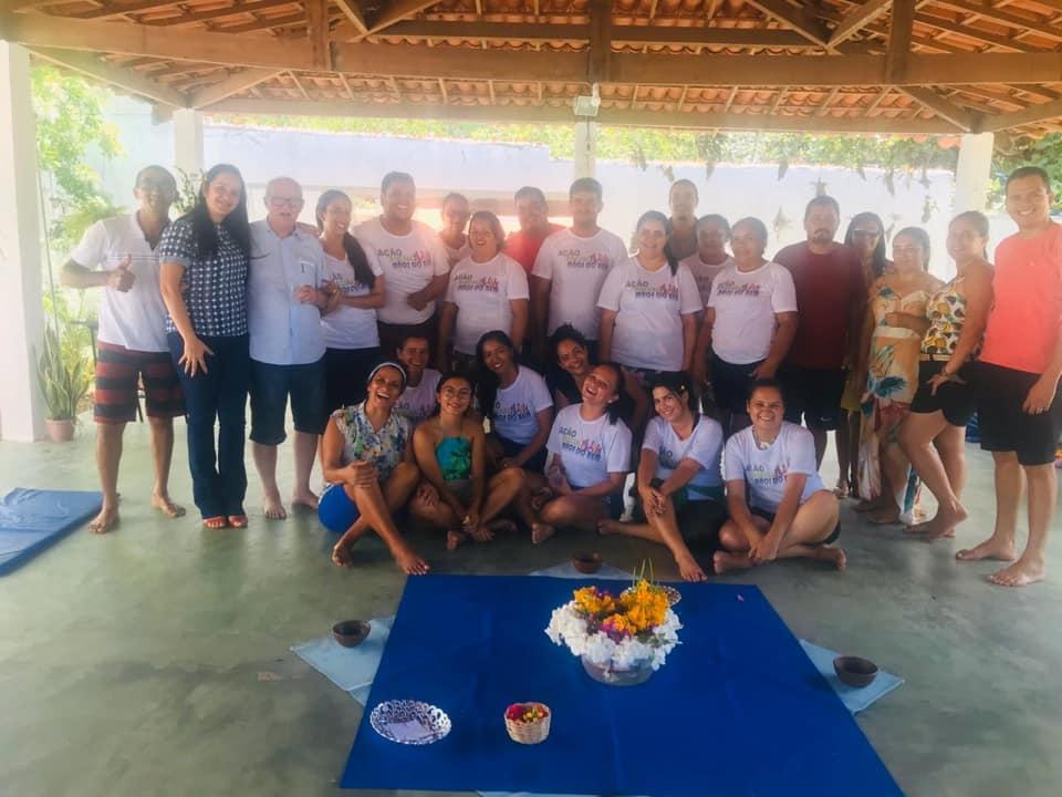 """Grupo: """"Ajudando a quem CUIDA"""". realiza ação em Tibau do Sul."""