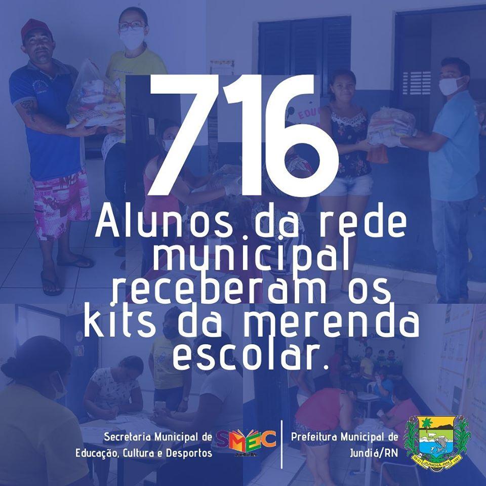 Prefeitura e Secretaria de Educação, distribuiu  kits da merenda escolar para os alunos da rede pública municipal de ensino.