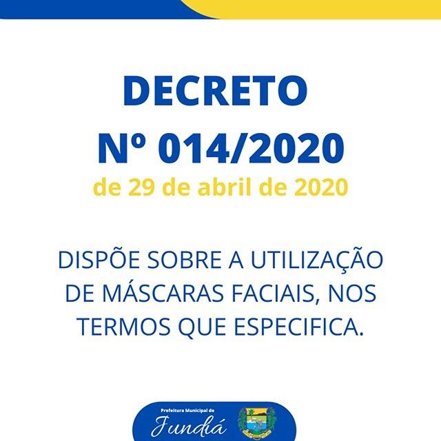 Decreto 014/2020 de 29 de abril de 2020.