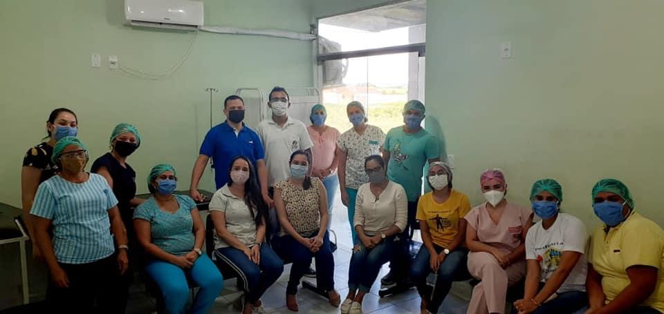 Equipe Multiprofissional através do Projeto *Previne Jundiá*, realiza atividades  para Saúde do Trabalhador e dos profissionais da saúde.