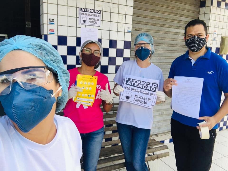 Secretaria de saúde realizou barreira sanitária, fiscalização dos comércios e exposição do decreto Nº 014/2020.