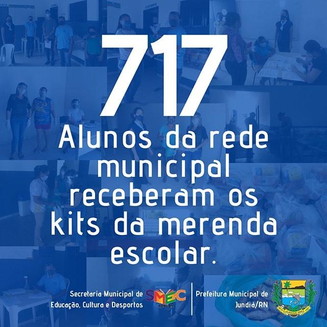 Prefeitura através da Educação distribuiu  717 kits da merenda escolar.