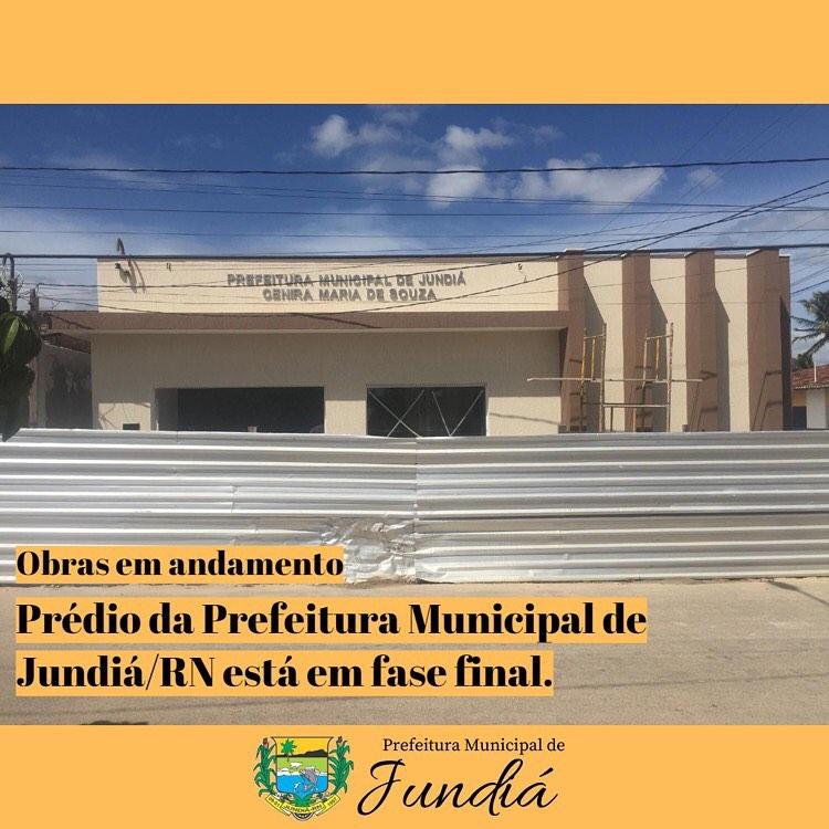 Prédio da Prefeitura Municipal de Jundiá/RN está em finalização.