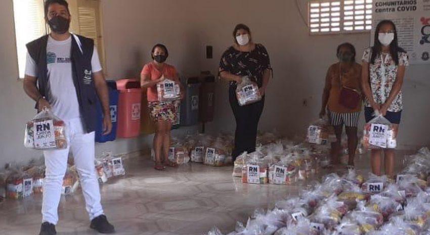 Entrega de 270 cestas básicas a Associação das Comunidades Quilombolas de Jundiá/RN