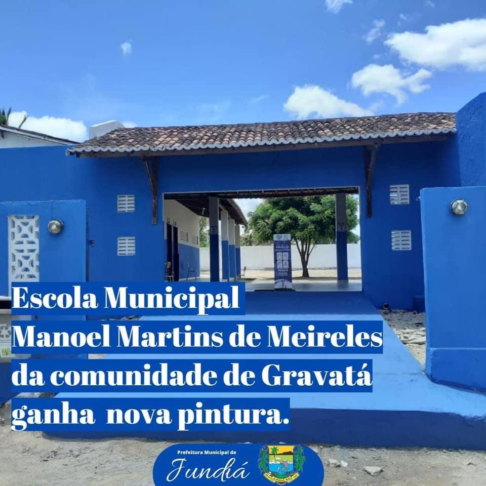 Nova pintura na Escola Municipal Manoel Martins de Meireles