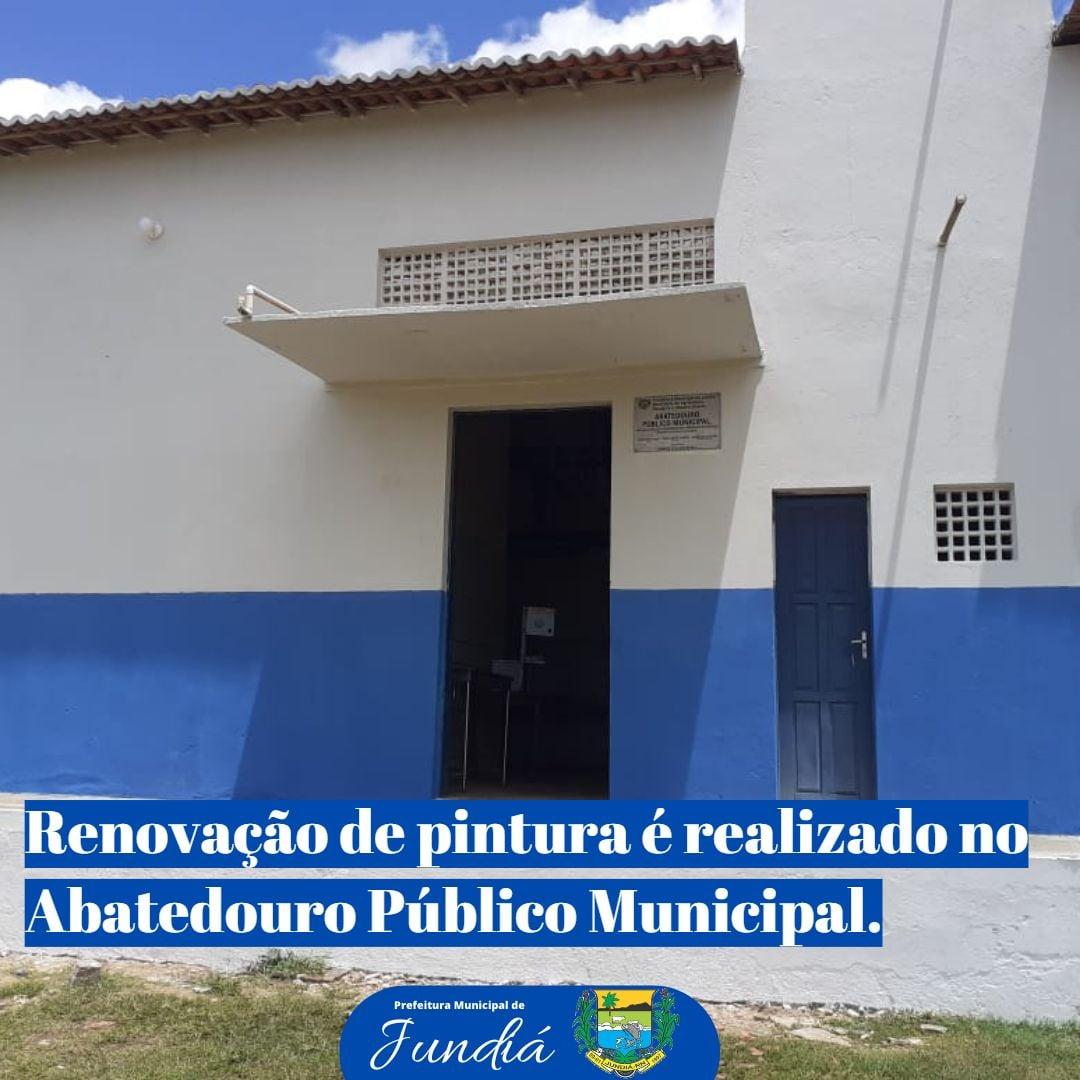 Prefeitura realiza renovação de pintura no Abatedouro Público Municipal