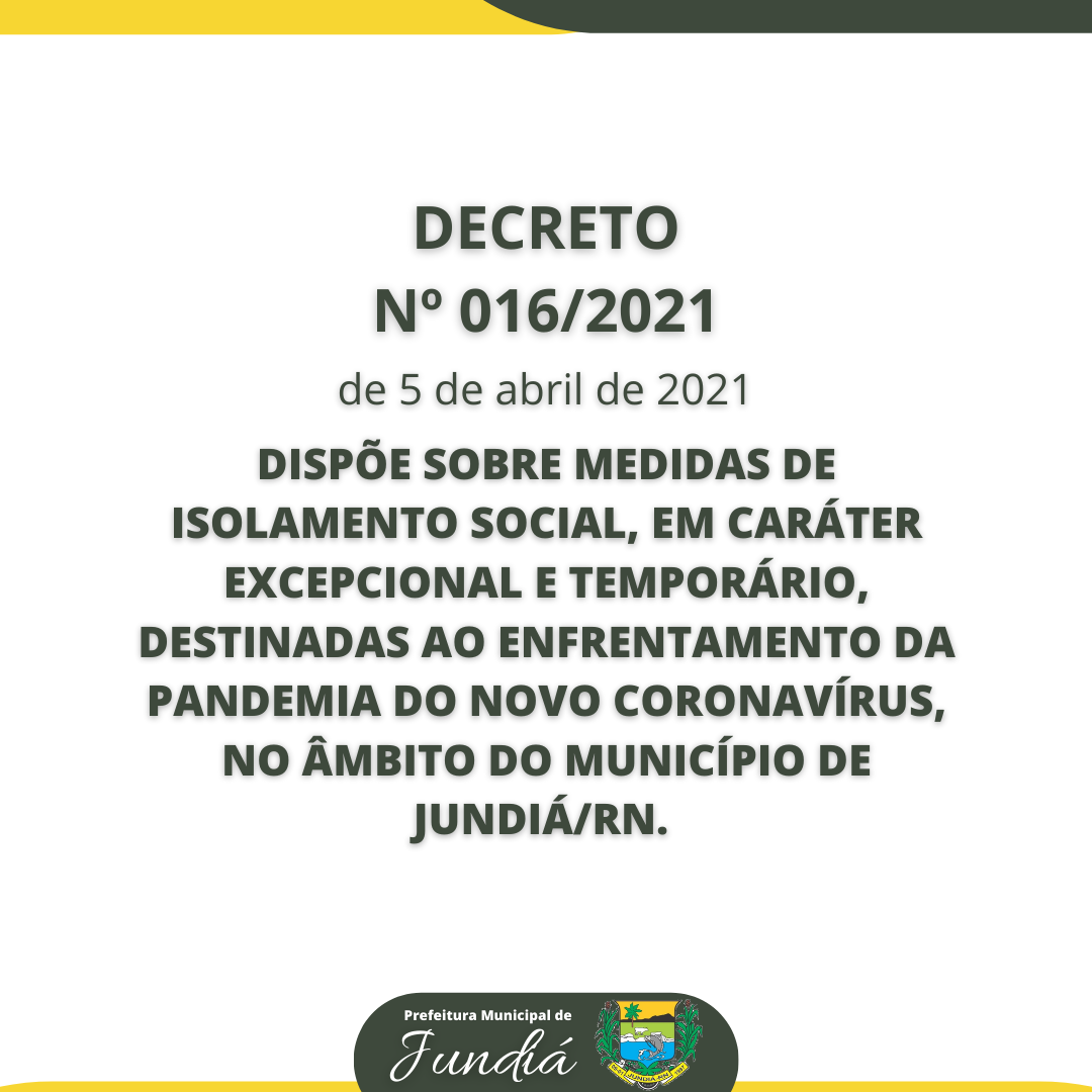 Decreto 018/2021 de 5 de abril de 2021