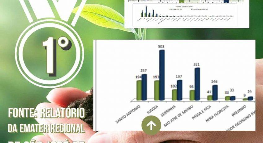 Jundiá está em primeiro lugar em maior número de atendimento ao agricultor