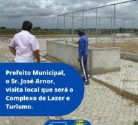 Prefeito Municipal visita o local onde será o Complexo de Lazer e Turismo da cidade.