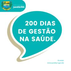 200 dias de gestão na Saúde com trabalho intenso em Jundiá