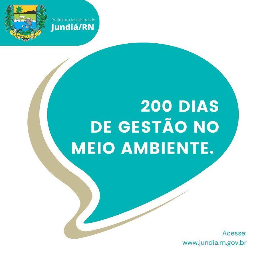 200 dias de gestão no Meio Ambiente com trabalho intenso em Jundiá