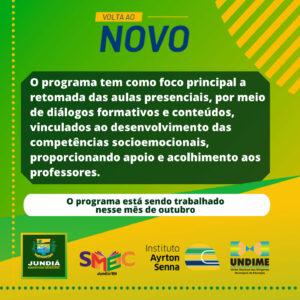 Secretaria de Educação forma parceria para programa de volta as aulas presenciais